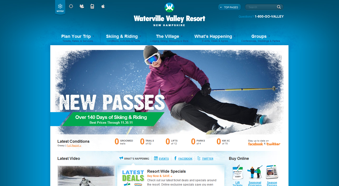 5 more original ski resort website designs launched for Online designs