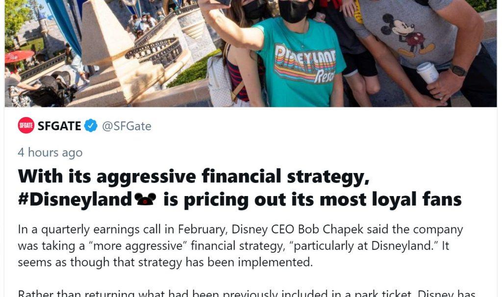 screenshot of disney headline
